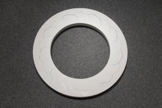 TJ Edwards circular ceramic and gypsum