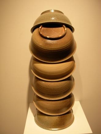 Thomas Lowell Edwards large bowls stacked