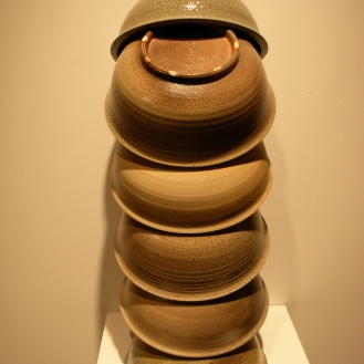 Thomas Lowell Edwards large bowls stacked