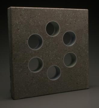 Thomas Edwards concrete and ceramics sculpture