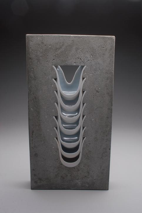 Thomas Edwards concrete and ceramics sculpture Ridge Ceramics Top 40