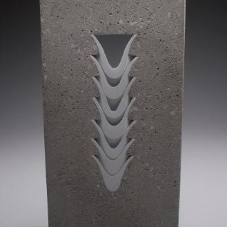 Thomas Lowell Edwards concrete and ceramics sculpture Ridge Ceramics Top 40