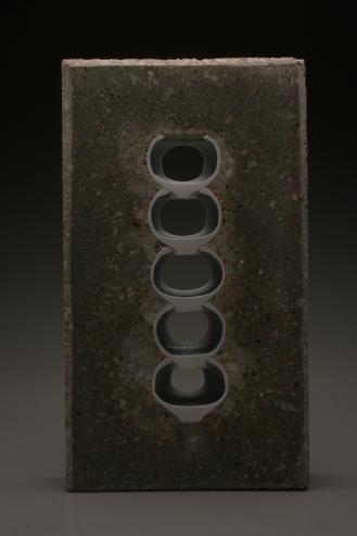 TJ Edwards concrete and ceramics sculpture