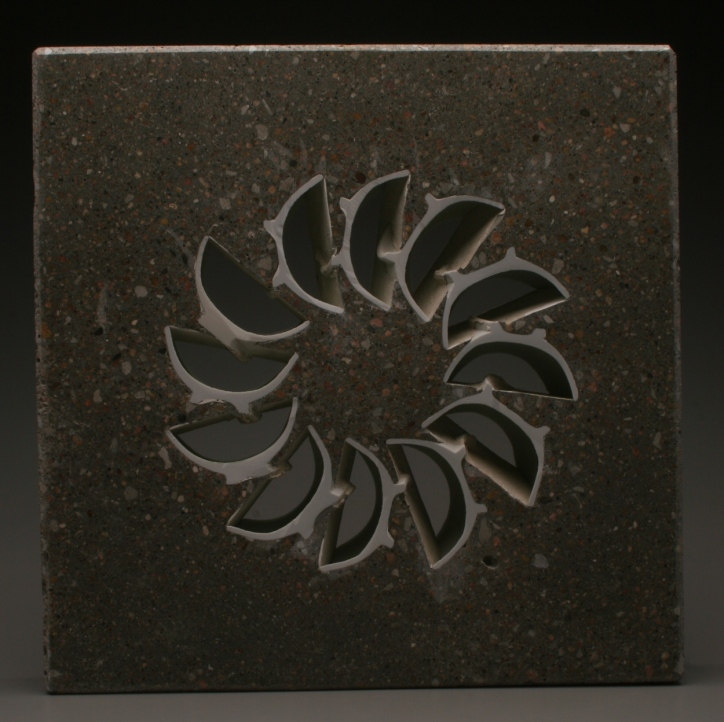 Thomas Edwards concrete and ceramics sculpture