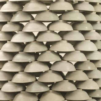 Thomas Lowell Edwards stacked bowls (detail)